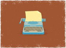 Antique typewriter. In vintage vector style Royalty Free Stock Images