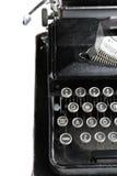 Antique typewriter on white. Stock Photo