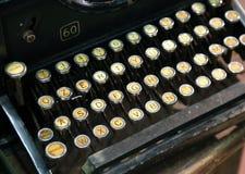 Antique typewriter with white keys Royalty Free Stock Image