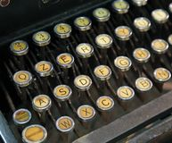 Antique typewriter with white keys Royalty Free Stock Images