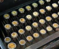 Antique typewriter with white keys Royalty Free Stock Images