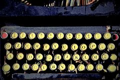 Antique typewriter for writers Stock Images