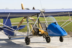 Antique ultra light plane Royalty Free Stock Photography