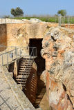 Antique underground reservoir, Zippori, Israel Stock Photo