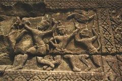 Antique une statue de bas-relief Photos libres de droits
