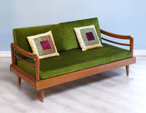 Antique upholstered settee Stock Images