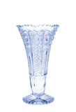 Antique vase - cut glass - isolated royalty free stock image