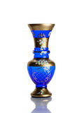 Antique vase - cut glass - isolated on white background Royalty Free Stock Photos