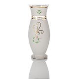 Antique vase - cut glass - isolated on white background Stock Photos