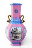 Antique vase. East antique vase with white background stock photos