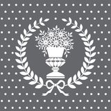 Antique vase in a laurel wreath Royalty Free Stock Photo