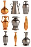 9 antique vases Royalty Free Stock Images
