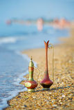 Antique vases by the sea Stock Images