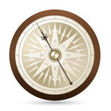 Antique vector compass illustration Stock Photography