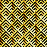 Antique vector seamless gold art deco pattern. Royalty Free Stock Images