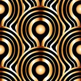 Antique vector seamless gold art deco pattern. Stock Photo