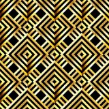 Antique vector seamless gold art deco pattern. Stock Photography