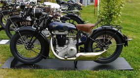Antique Vehicles, Vintage Motorcycles Stock Photos