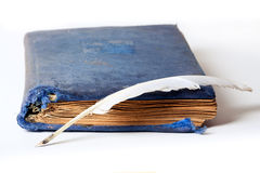 Antique velvet book Stock Image