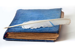 Antique velvet book Stock Photography