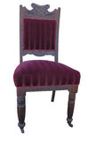 Antique Velvet Chair Stock Image