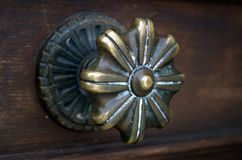 Antique Venetian Door handle in Venice Stock Photo