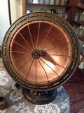 Antique Victorian Brass Heater. Fan stock photography