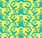Antique victorian seamless pattern. Bright vector antique victorian seamless pattern, made of floral retro swirls Royalty Free Stock Photography