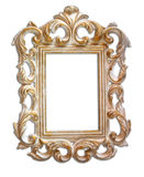 Antique victorian style frame. isolated on white Stock Photo
