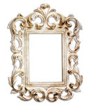 Antique victorian style frame. isolated on white Royalty Free Stock Photo