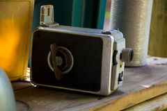 Antique video camera Royalty Free Stock Images