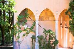 Antique villa in italy stock photos