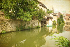 Antique Village in france Europe Stock Image