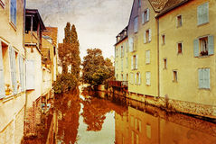 Antique Village in france Royalty Free Stock Images