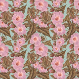 Antique vintage Antique Pink Flower Pattern Royalty Free Stock Images