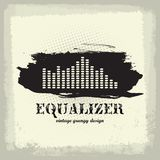 Antique vintage a art of waveform equalizer Royalty Free Stock Photography