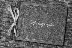 Antique and Vintage Autograph Book Royalty Free Stock Photos