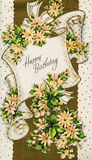 Antique Vintage Birthday Card Stock Images