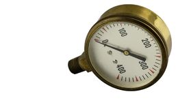 Antique vintage brass pressure gauge royalty free stock photography