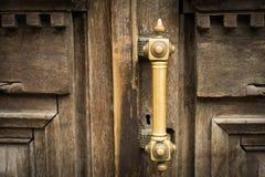 Vintage brown wooden door Stock Photo
