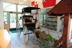 Antique vintage buggy in the lobby at the Tunica Museum in North Mississippi. Royalty Free Stock Photos