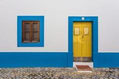 Antique vintage facade usual Portuguese home. Stock Photography