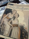 Antique vintage  fashion book. Old book for woman dressing in the old day.  Use as reference in learning Stock Photos