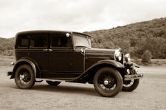 Antique Vintage Fast Old Car Speeding stock photography
