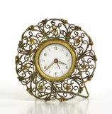 Antique Vintage fifties Fancy Gold Alarm Clock Stock Image