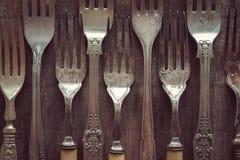 Antique or Vintage forks Royalty Free Stock Images