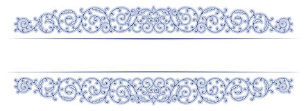 Antique vintage lace border Royalty Free Stock Photos