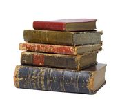 Antique books isolated Royalty Free Stock Images