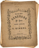 Antique Vintage paper song sheets stock image