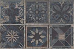 Antique vintage pattern dark gray background stock image